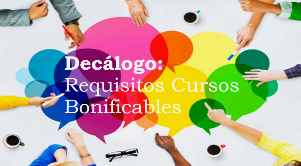 Decálogo Requisitos de Cursos Bonificables